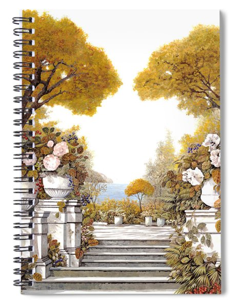 four seasons-autumn on lake Maggiore Spiral Notebook