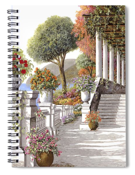 four seasons-summer on lake Como Spiral Notebook