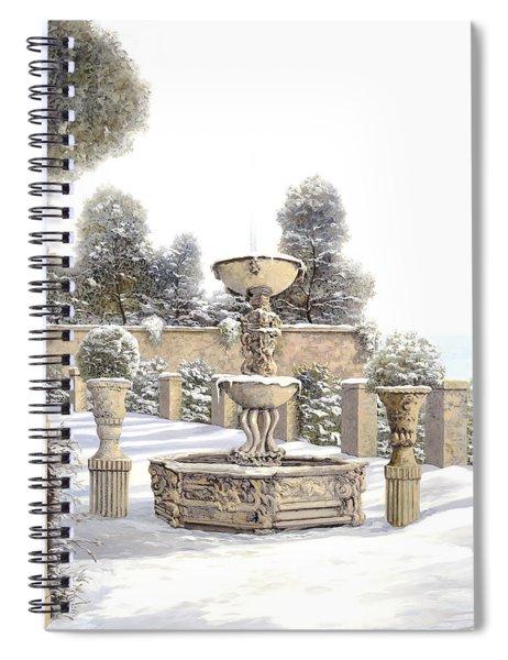 four seasons-winter on lake Como Spiral Notebook