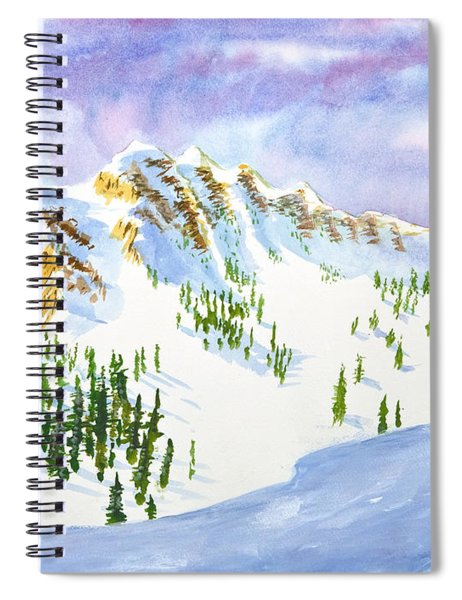 Four Sisters At Snowbasin Spiral Notebook