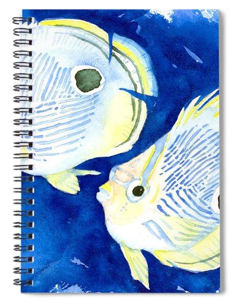 Foureye Butterflyfish Spiral Notebook