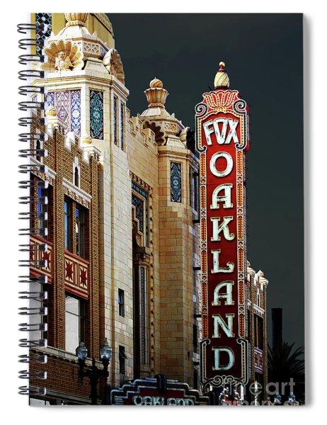 Fox Theater . Oakland California Spiral Notebook