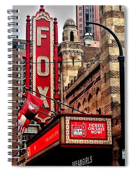 Spiral Notebook featuring the photograph Fox Theater - Atlanta by Robert L Jackson