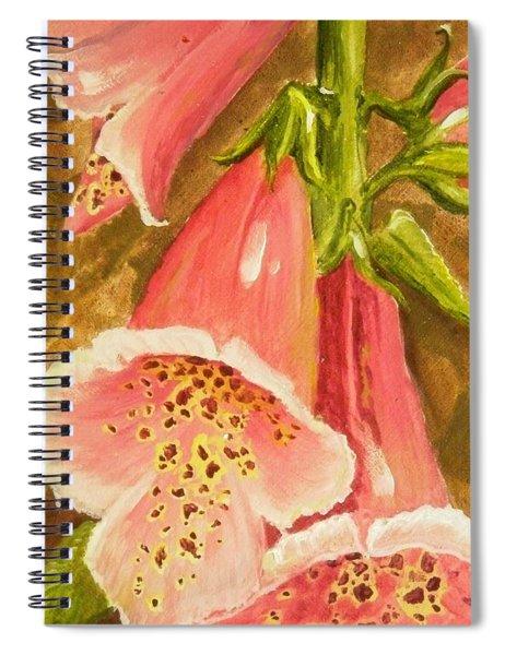 Foxy Foxglove Of Williamsburg Spiral Notebook