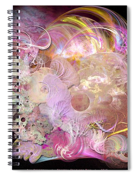 Fractal Feathers Pink Spiral Notebook