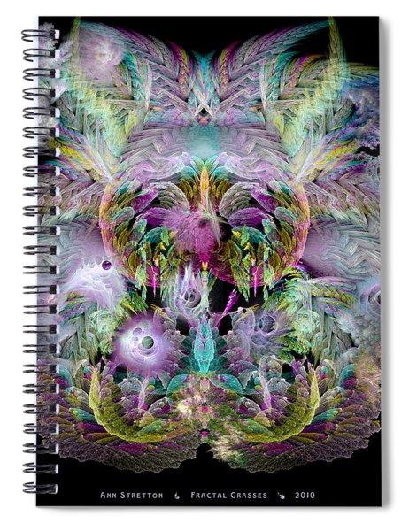 Fractal Grasses Spiral Notebook