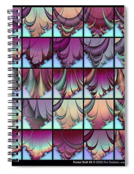 Fractal Quilt 3  Spiral Notebook