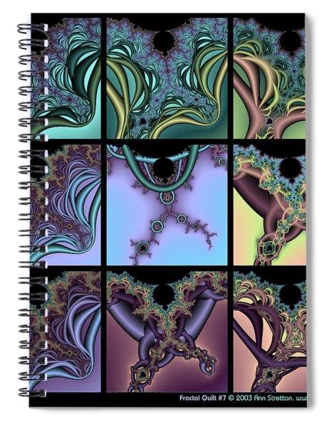 Fractal Quilt 7 Spiral Notebook