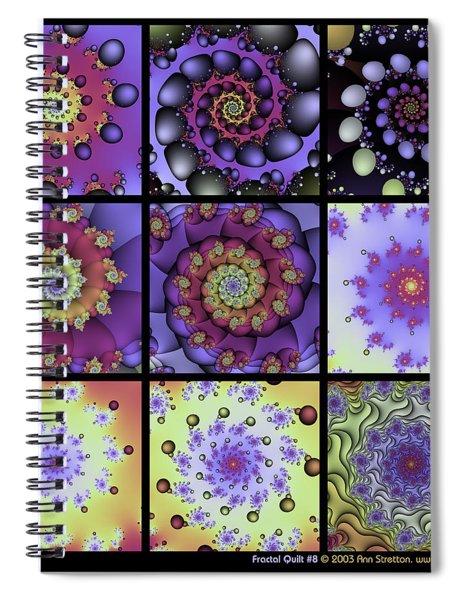 Fractal Quilt 8  Spiral Notebook