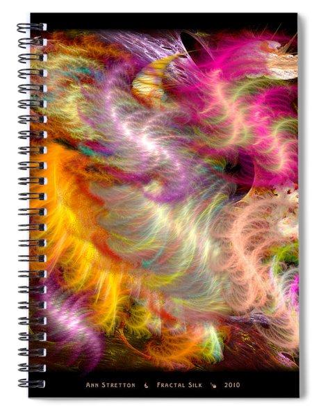 Fractal Silk Spiral Notebook