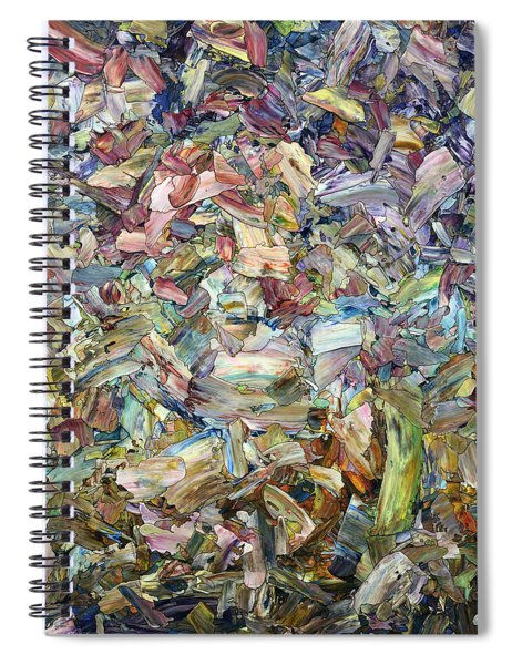 Spiral Notebook featuring the painting Roadside Fragmentation by James W Johnson