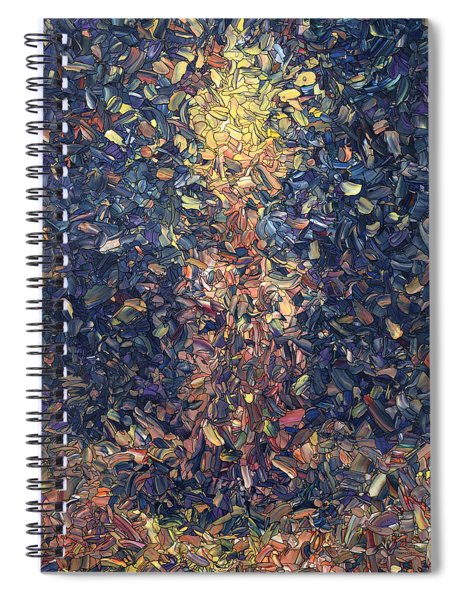 Spiral Notebook featuring the painting Fragmented Flame by James W Johnson