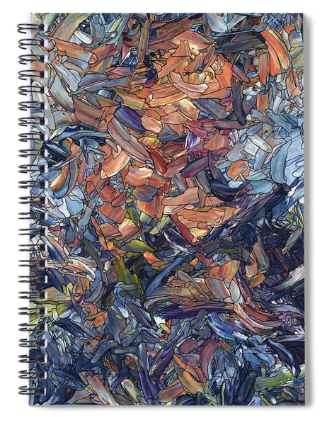 Fragmented Man - Square Spiral Notebook