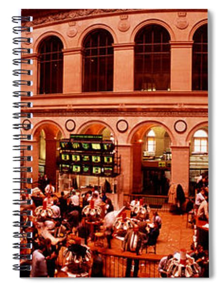 France, Paris, Bourse Stock Exchange Spiral Notebook
