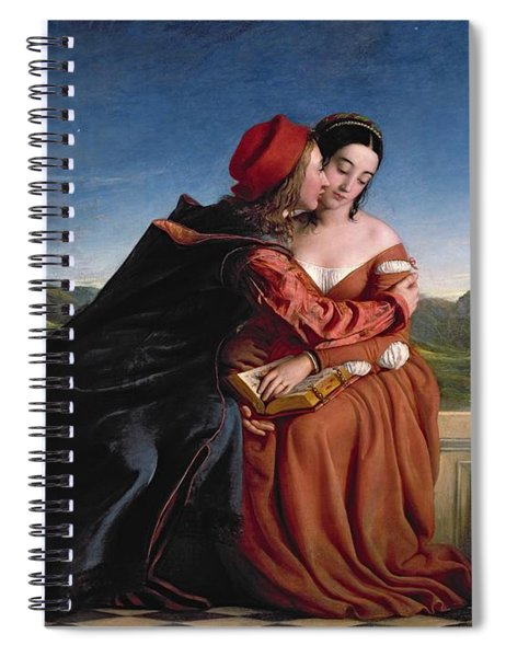 Francesca Da Rimini, Exh. 1837 Oil On Canvas Spiral Notebook