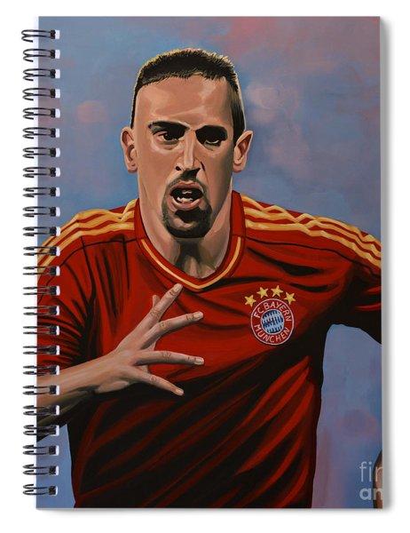 Franck Ribery Spiral Notebook by Paul Meijering