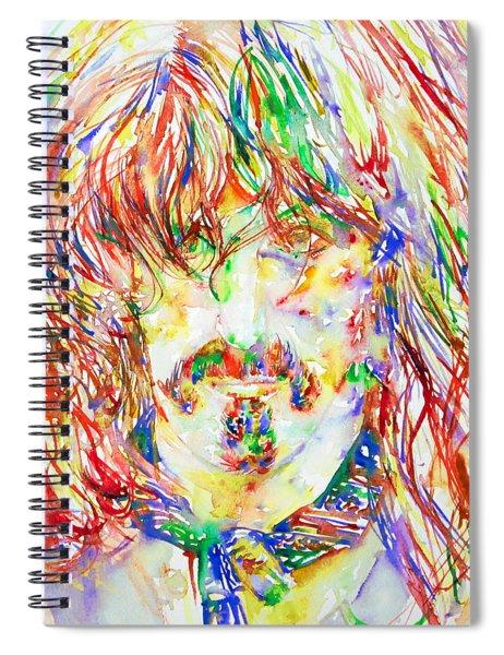 Frank Zappa Watercolor Portrait.1 Spiral Notebook