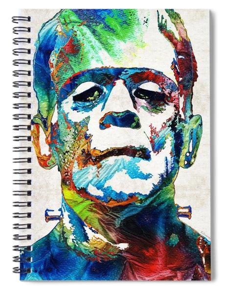 Frankenstein Art - Colorful Monster - By Sharon Cummings Spiral Notebook