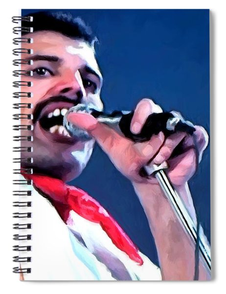 Freddie Mercury Performance We Will Rock You - Queen Series Spiral Notebook