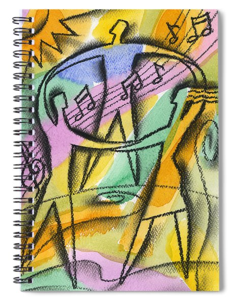 Music, Harmony And Health Spiral Notebook