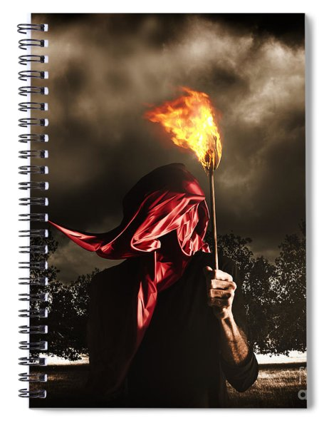 Freedom Or Fire. A Statute Of Liberty Spiral Notebook