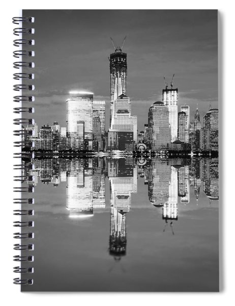 Freedom Tower Black And White Spiral Notebook