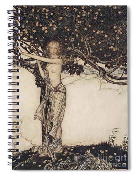 Freia The Fair One Illustration From The Rhinegold And The Valkyrie Spiral Notebook
