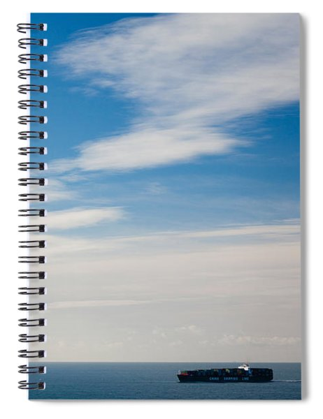 Freighter In The Sea, Point Bonita Spiral Notebook