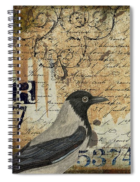 French Bird Postcard Spiral Notebook