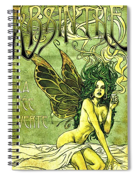 French Cafe Poster C1885 Spiral Notebook