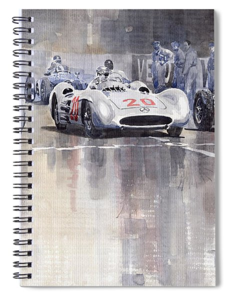French Gp 1954 Mb W 196 Meserati 250 F Spiral Notebook