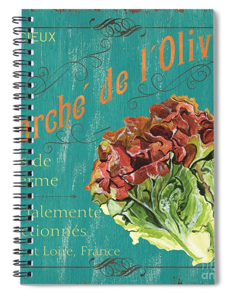 French Market Sign 3 Spiral Notebook