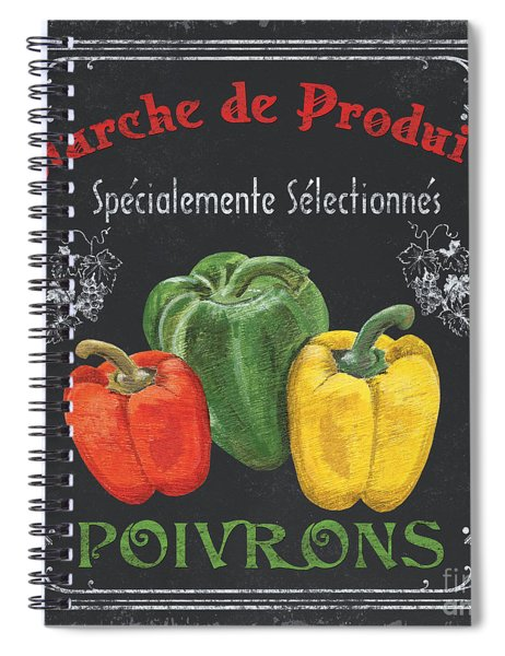 French Vegetables 3 Spiral Notebook