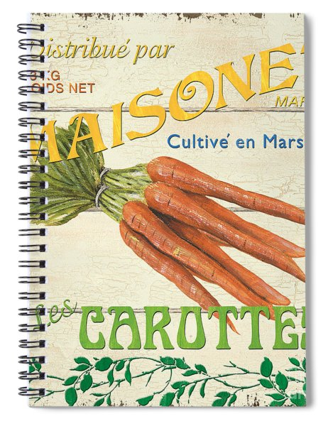French Veggie Sign 2 Spiral Notebook