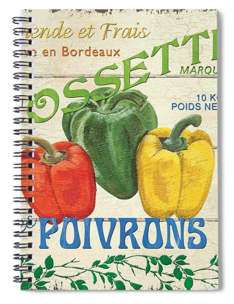 French Veggie Sign 4 Spiral Notebook