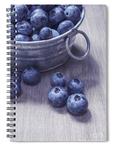Fresh Picked Blueberries With Vintage Feel Spiral Notebook