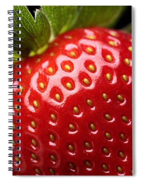 Fresh Strawberry Close-up Spiral Notebook
