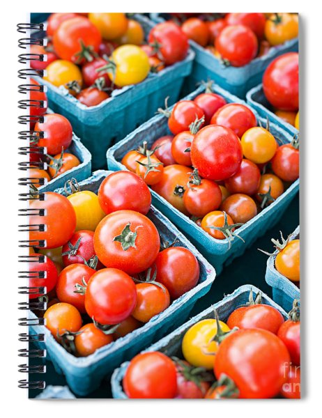 Fresh Tomatoes Square Format Spiral Notebook