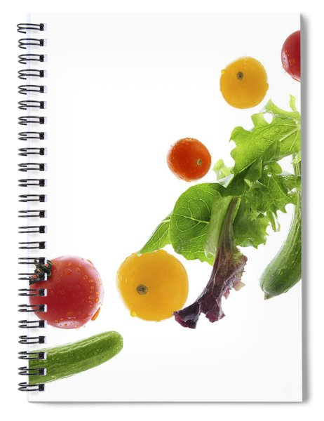 Fresh Vegetables Flying Spiral Notebook