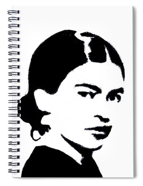 Frida Black And White Spiral Notebook