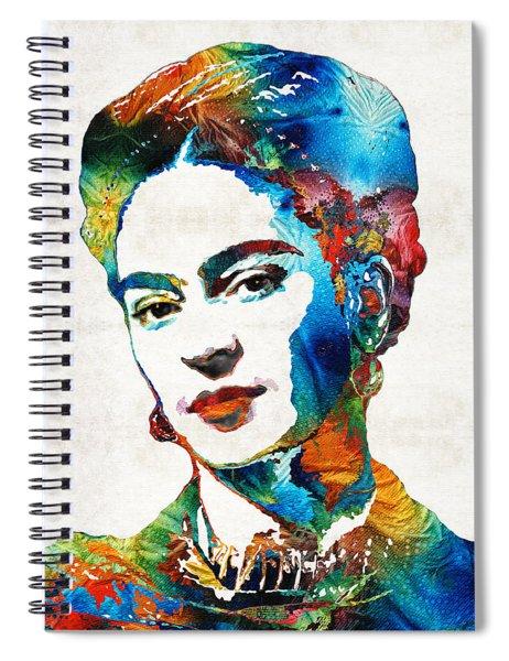 Frida Kahlo Art - Viva La Frida - By Sharon Cummings Spiral Notebook