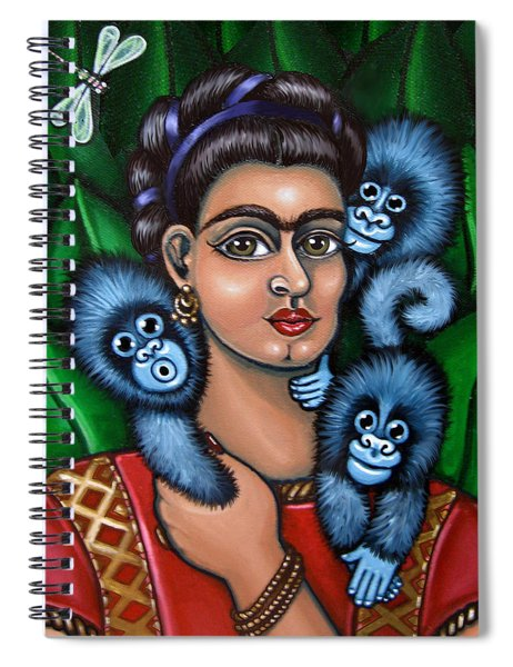 Fridas Triplets Spiral Notebook