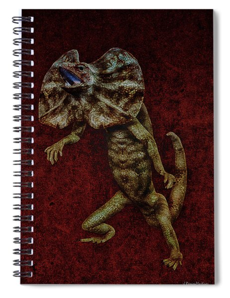 Frilled Lizard Spiral Notebook