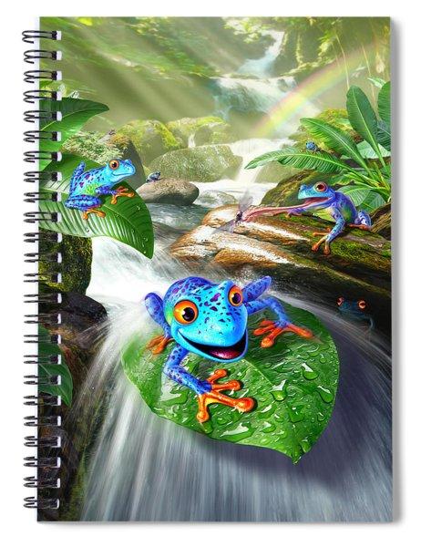 Frog Capades Spiral Notebook