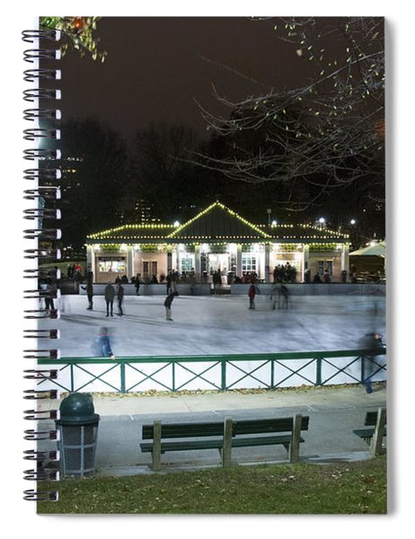 Frog Pond Ice Skating Rink In Boston Commons Spiral Notebook