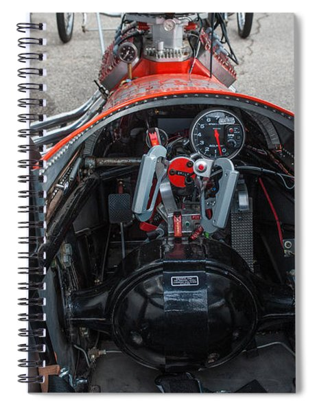 Front Engine Dragster Cockpit Spiral Notebook