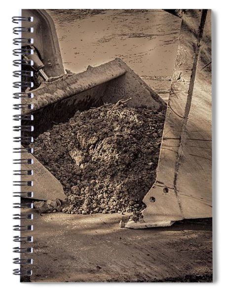 Front Loader Buckets Spiral Notebook