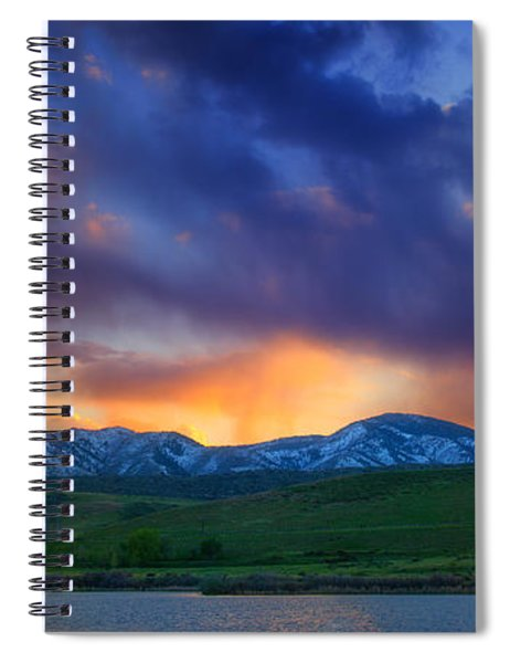 Front Range Light Show Spiral Notebook