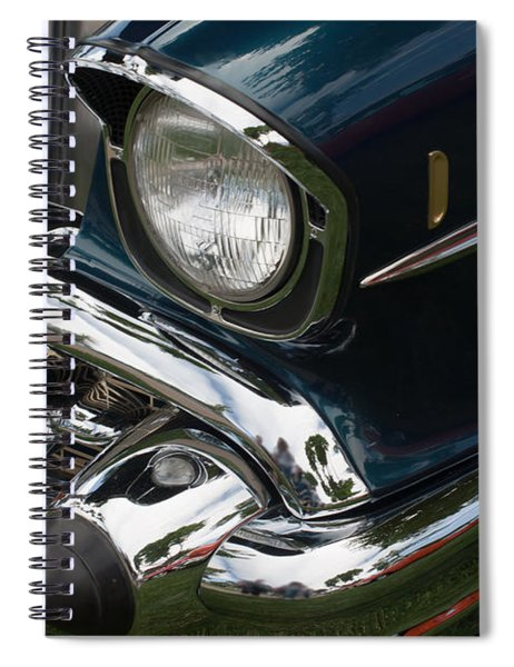 Front Side Of A Classic Car Spiral Notebook