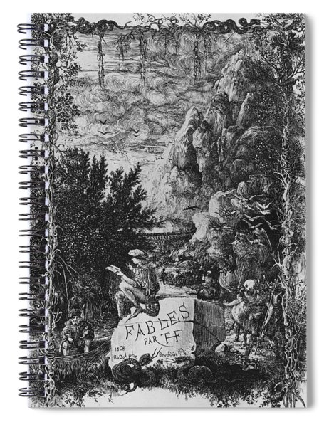 Frontispiece Illustration From Fables By Hippolyte De Thierry-faletans Spiral Notebook